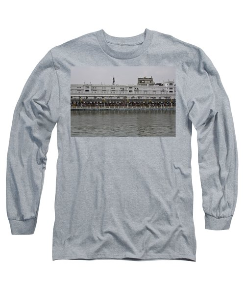 Long Sleeve T-Shirt featuring the photograph Crowd Of Devotees Inside The Golden Temple by Ashish Agarwal