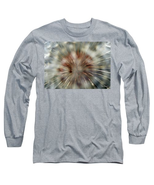 Long Sleeve T-Shirt featuring the photograph Dandelion Fluff by Kay Lovingood