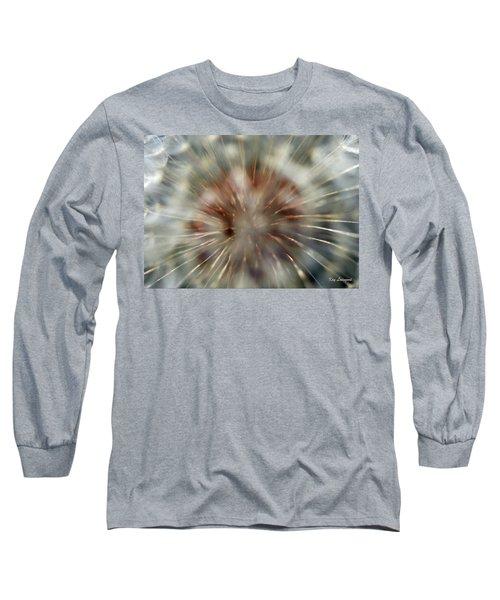 Dandelion Fluff Long Sleeve T-Shirt by Kay Lovingood