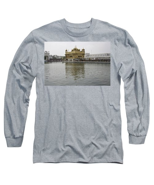 Long Sleeve T-Shirt featuring the photograph Darbar Sahib And Sarovar Inside The Golden Temple by Ashish Agarwal