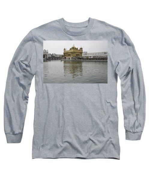 Darbar Sahib And Sarovar Inside The Golden Temple Long Sleeve T-Shirt
