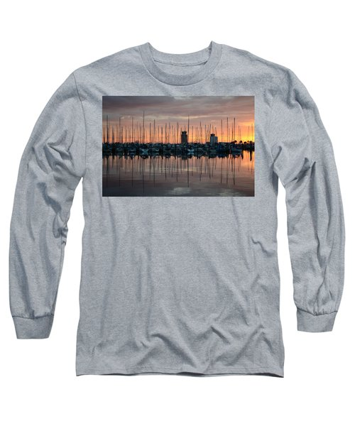 Dawn At The Marina Long Sleeve T-Shirt