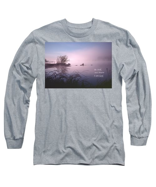 Dawn On The Chippewa River Long Sleeve T-Shirt