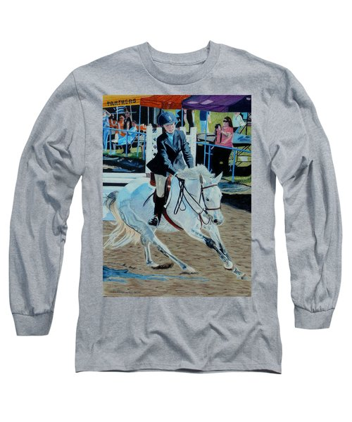 Determination - Horse And Rider - Horseshow Painting Long Sleeve T-Shirt
