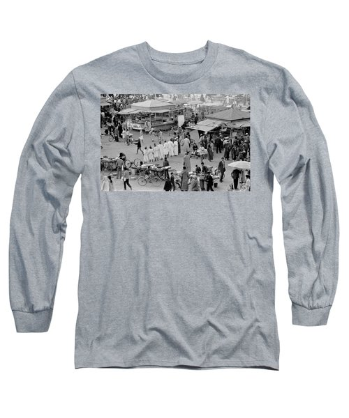 Djemaa El Fna Marrakech Morocco Long Sleeve T-Shirt