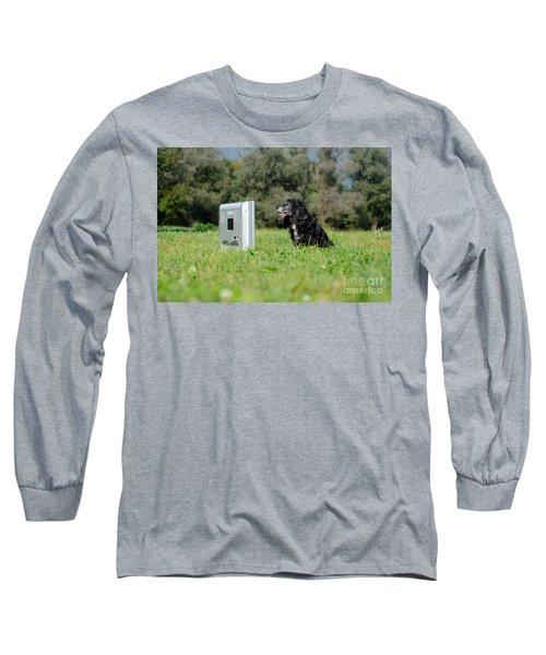 Dog Watching Tv Long Sleeve T-Shirt