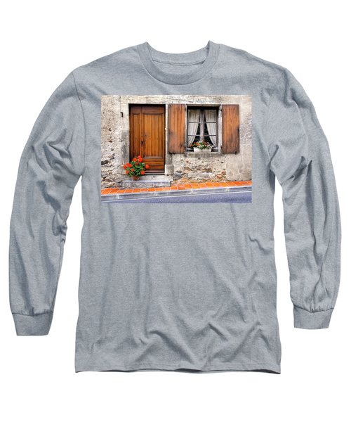 Long Sleeve T-Shirt featuring the photograph Doorway And Window In Provence France by Dave Mills