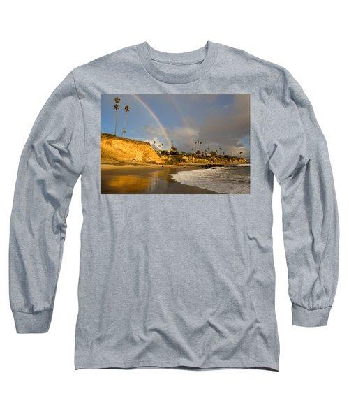 Double Raibow Over Laguna Beach Long Sleeve T-Shirt