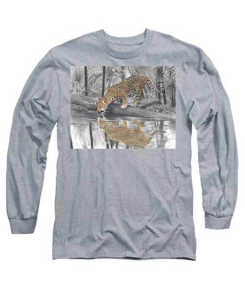 Drinking Jaguar Long Sleeve T-Shirt