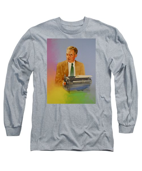 Long Sleeve T-Shirt featuring the painting E B White by Cliff Spohn