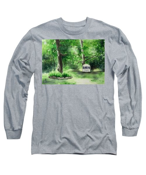 Long Sleeve T-Shirt featuring the painting Early Summer At The Geddes Farm --ann Arbor Michigan by Yoshiko Mishina