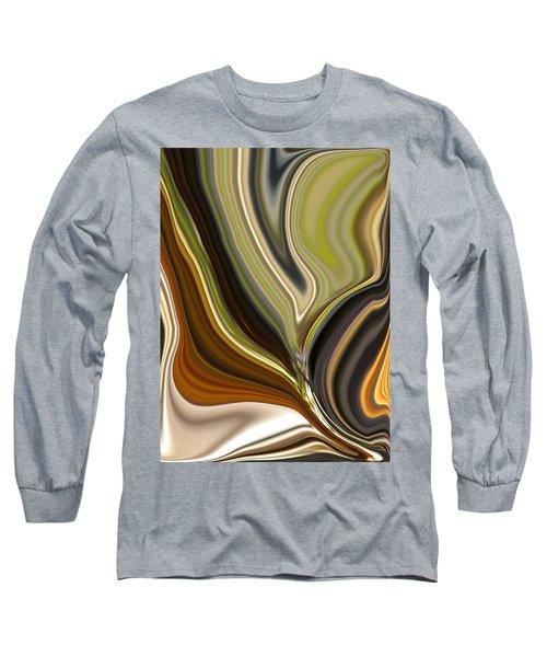 Earth Tones Long Sleeve T-Shirt by Renate Nadi Wesley