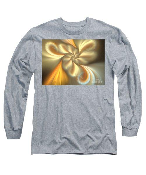 Ecru Long Sleeve T-Shirt by Kim Sy Ok