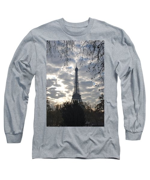 Long Sleeve T-Shirt featuring the photograph Eiffel In The Morning by Eric Tressler
