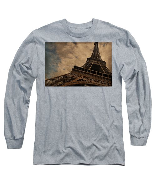 Eiffel Tower 2 Long Sleeve T-Shirt by Mary Machare