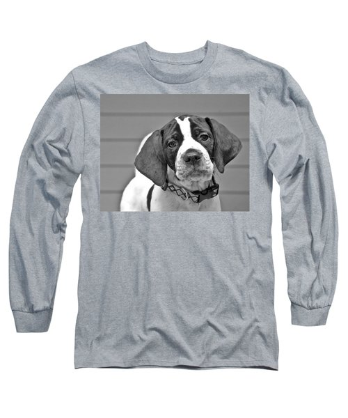English Pointer Puppy Black And White Long Sleeve T-Shirt