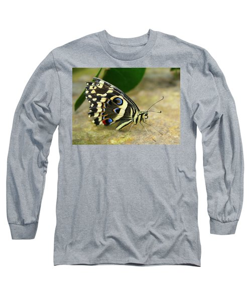 Eye To Eye With A Butterfly Long Sleeve T-Shirt