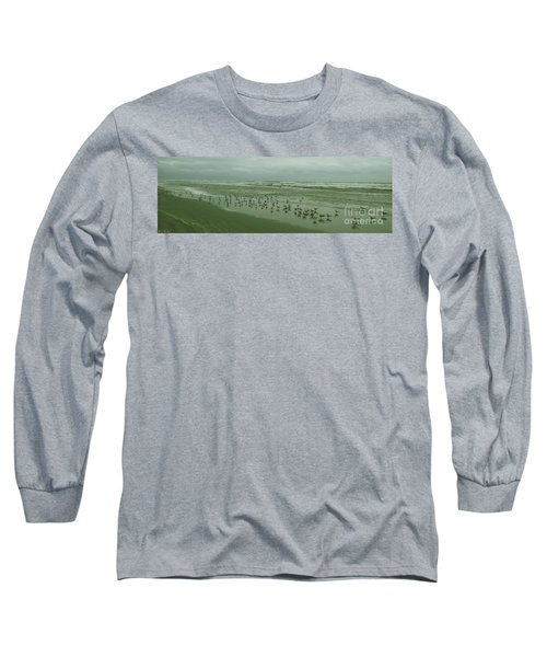 Long Sleeve T-Shirt featuring the photograph Facing The Wind by Donna Brown