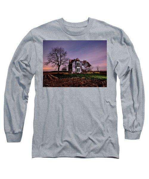 Farm House At Night Long Sleeve T-Shirt