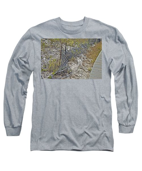 Long Sleeve T-Shirt featuring the photograph Fence And Boardwalk by Susan Leggett