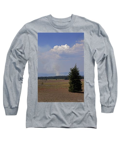 Fire In The Cascades Long Sleeve T-Shirt by Mick Anderson