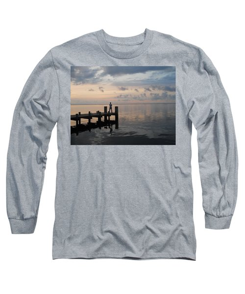 Long Sleeve T-Shirt featuring the photograph First Light by Clara Sue Beym