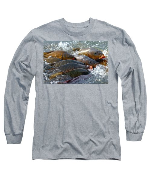 Long Sleeve T-Shirt featuring the photograph Fishing And Hunting by Elizabeth Winter