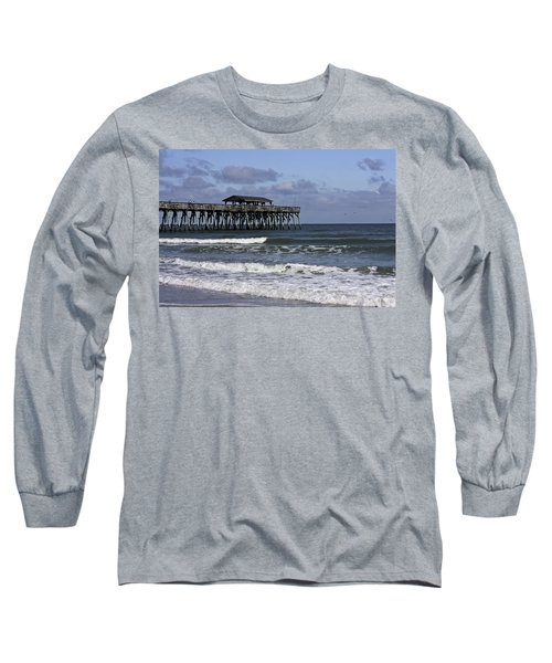 Fishing On The Pier Long Sleeve T-Shirt