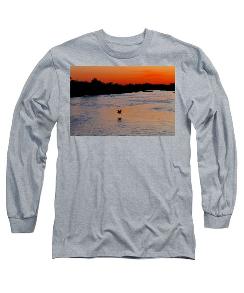 Long Sleeve T-Shirt featuring the photograph Flight Of The Turkey by Elizabeth Winter