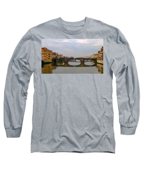Florence Italy Bridge Long Sleeve T-Shirt by Catie Canetti