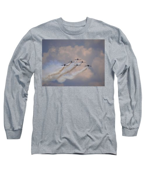 Flying In Formation Long Sleeve T-Shirt by Julia Wilcox