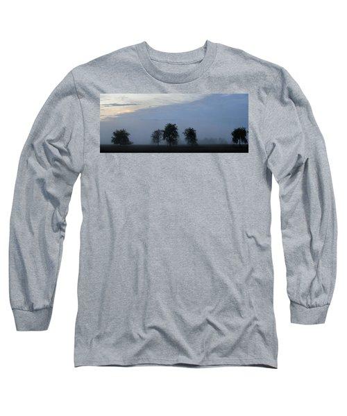 Foggy Pennsylvania Treeline Long Sleeve T-Shirt