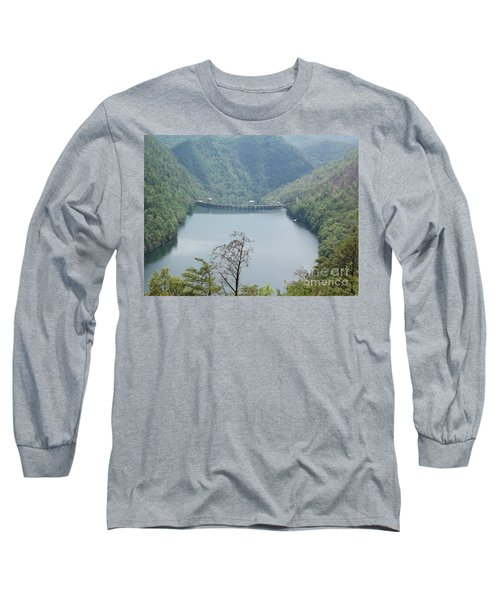 Long Sleeve T-Shirt featuring the photograph Fontana Dam by Janice Spivey