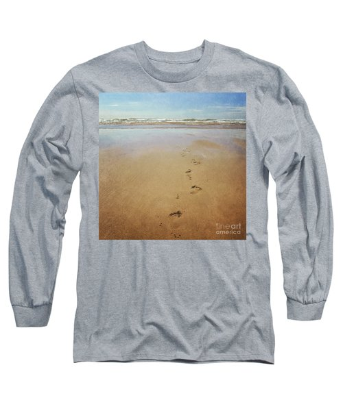 Footprints In The Sand Long Sleeve T-Shirt by Lyn Randle