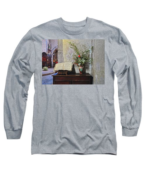 Long Sleeve T-Shirt featuring the photograph French Church Decorations by Dave Mills