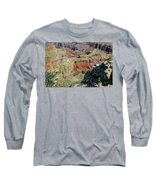 Long Sleeve T-Shirt featuring the painting From Yaki Point 6 Grand Canyon by Bob and Nadine Johnston