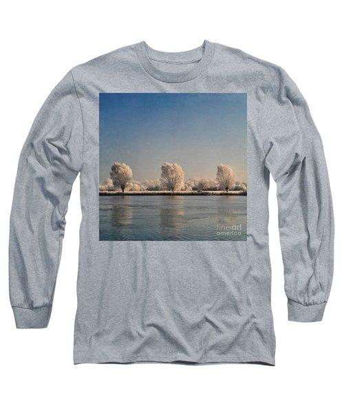 Frozen Lake Long Sleeve T-Shirt by Lyn Randle