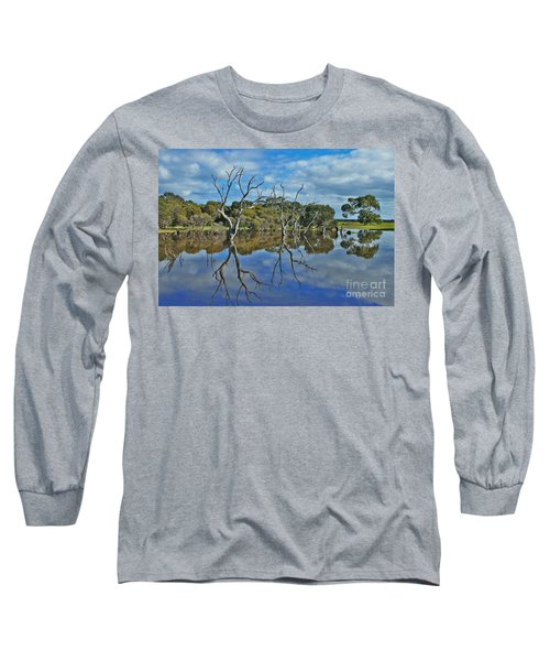 Long Sleeve T-Shirt featuring the photograph Glass Lake by Stephen Mitchell