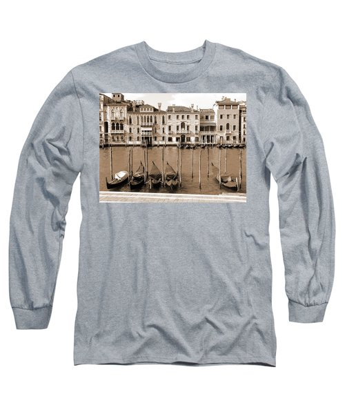 Gondolas Outside Salute Long Sleeve T-Shirt by Donna Corless