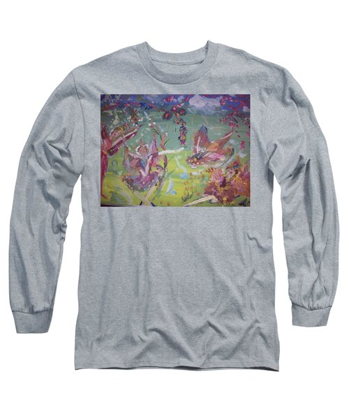 Good Morning Fairies Long Sleeve T-Shirt by Judith Desrosiers