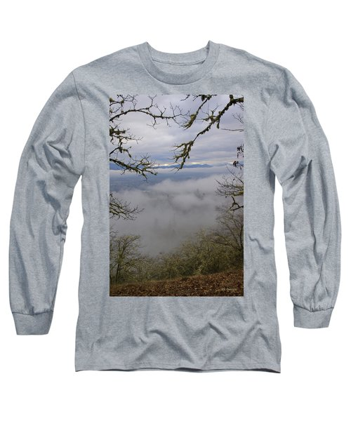 Grants Pass In The Fog Long Sleeve T-Shirt by Mick Anderson