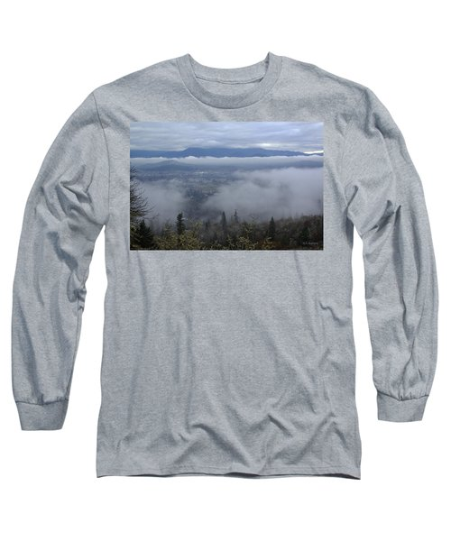 Grants Pass Weather Long Sleeve T-Shirt by Mick Anderson