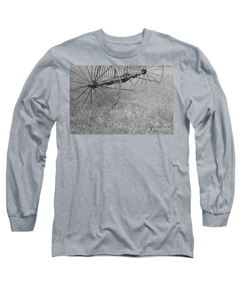 Hay Rake  Long Sleeve T-Shirt by Wilma  Birdwell