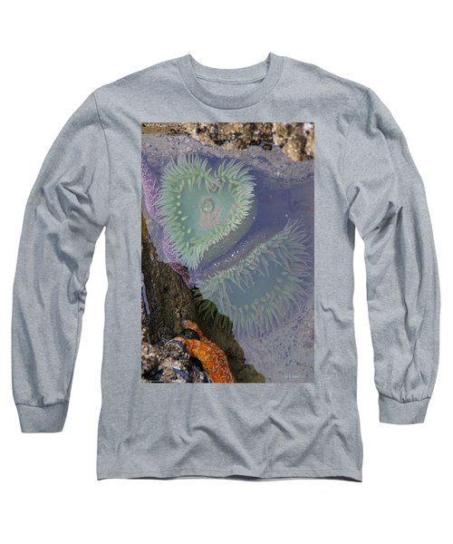 Heart Of The Tide Pool Long Sleeve T-Shirt by Mick Anderson