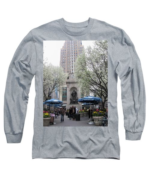 Long Sleeve T-Shirt featuring the photograph Herald Square by Dora Sofia Caputo Photographic Art and Design