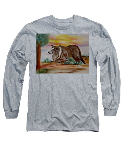 Herding Collie Long Sleeve T-Shirt by Maria Urso