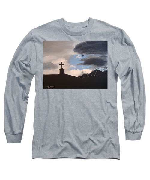 Long Sleeve T-Shirt featuring the painting Hope In The Storm by Norm Starks