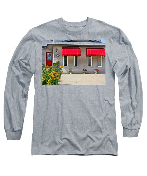 House With Red Shades. Long Sleeve T-Shirt by Johanna Bruwer