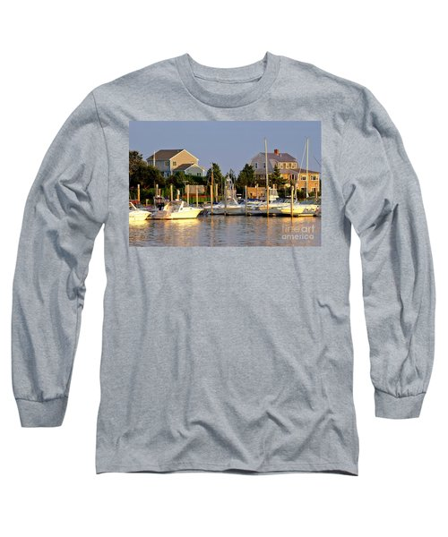 Hyannis Harbor At Sunset Long Sleeve T-Shirt