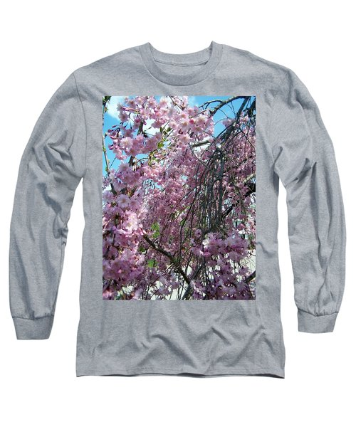 Long Sleeve T-Shirt featuring the painting In Bloom by Cynthia Amaral